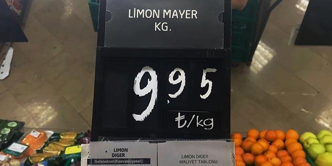 Limon fiyatları cep yakıyor