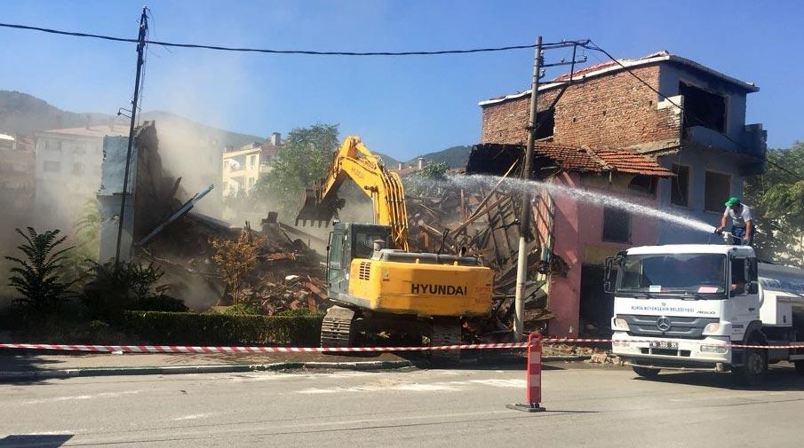 Şehreküstü bölgesinde yıkım