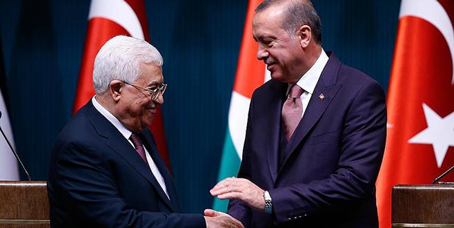 Cumhurbaşkanı Erdoğan, Mahmud Abbas ile telefonda görüştü