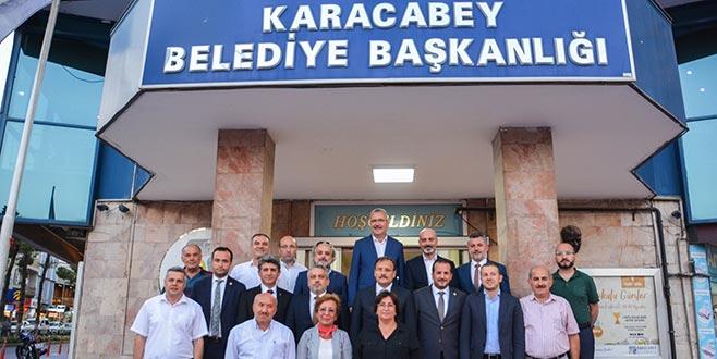AK Parti heyetinden Karacabey'e ziyaret