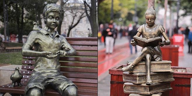 Bursa'nın heykellerine zarar verenlere çağrı