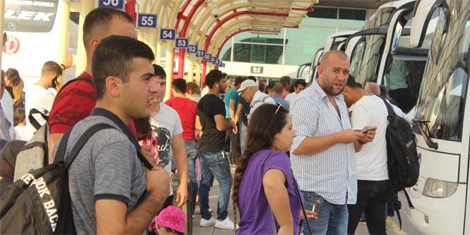 Bursa Terminali'nde 'bayram' yoğunluğu