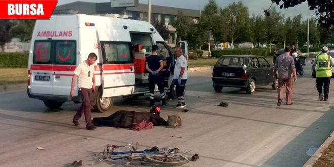 Can alan kaza! Otomobilin çarptığı...