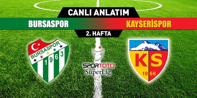 Bursaspor 0- 0 Kayserispor(CANLI ANLATIM)