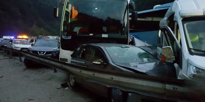 34 aracın karıştığı kazanın yeni görüntüleri ortaya çıktı