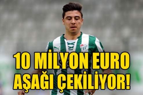 10 milyon Euro aşağı çekiliyor!