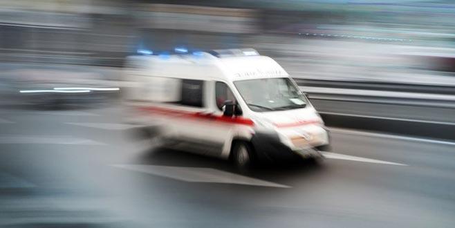 Motosikletli polis ekibi kaza yaptı: 2 yaralı
