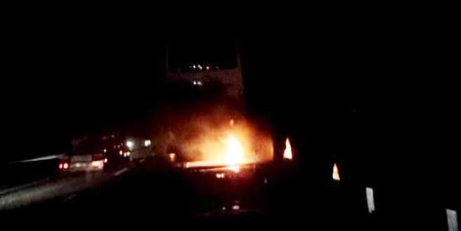 Bursa'da yanan TIR'a 'tesadüfi' müdahale