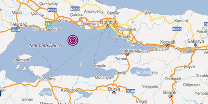 Marmara Denizi'nde korkutan deprem hareketliliği