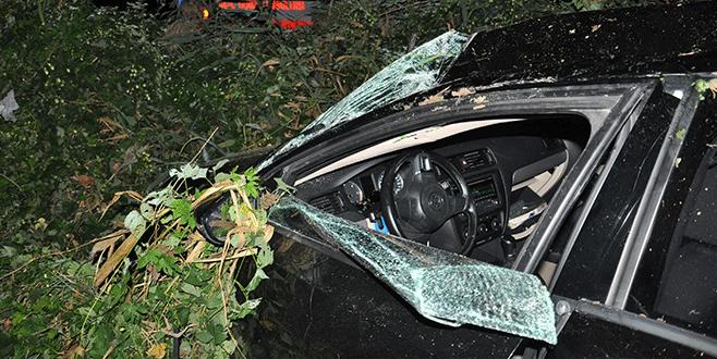 Bursa'da hatalı sollama, kazaya sebep oldu...