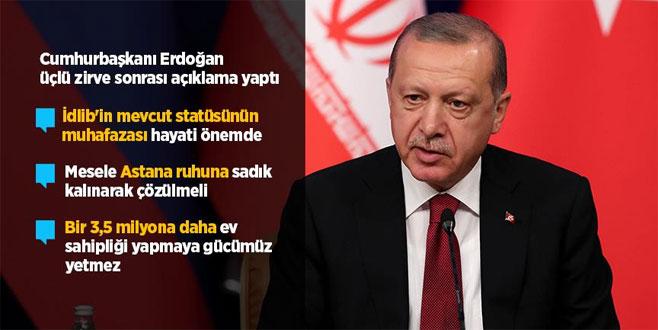 Erdoğan'dan üçlü zirve sonrası açıklama