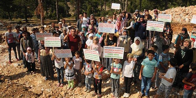 Büyükorhan'da 'santral' nöbeti