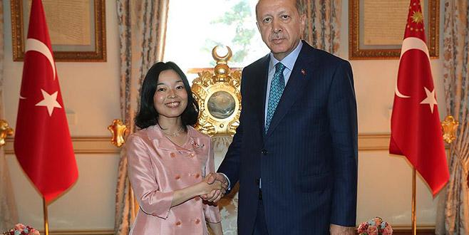Cumhurbaşkanı Erdoğan Japonya Prensesini kabul etti