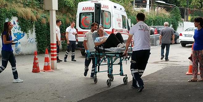 Bursa'da servisçiler birbirine girdi