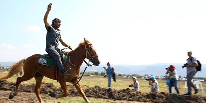 Bursa'da rahvan at yarışları heyecanı