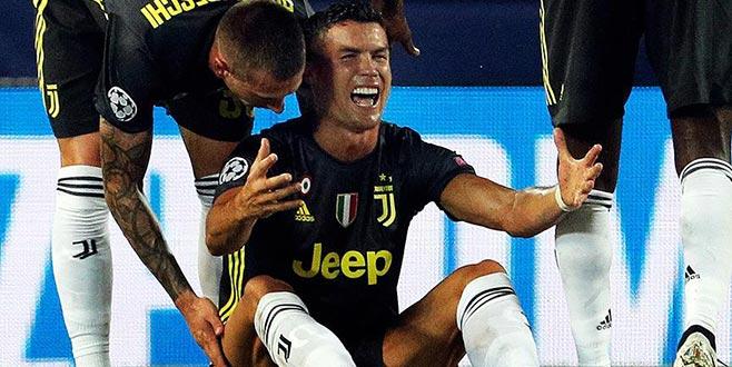 Cristiano Ronaldo'nun kariyerinde bir ilk!