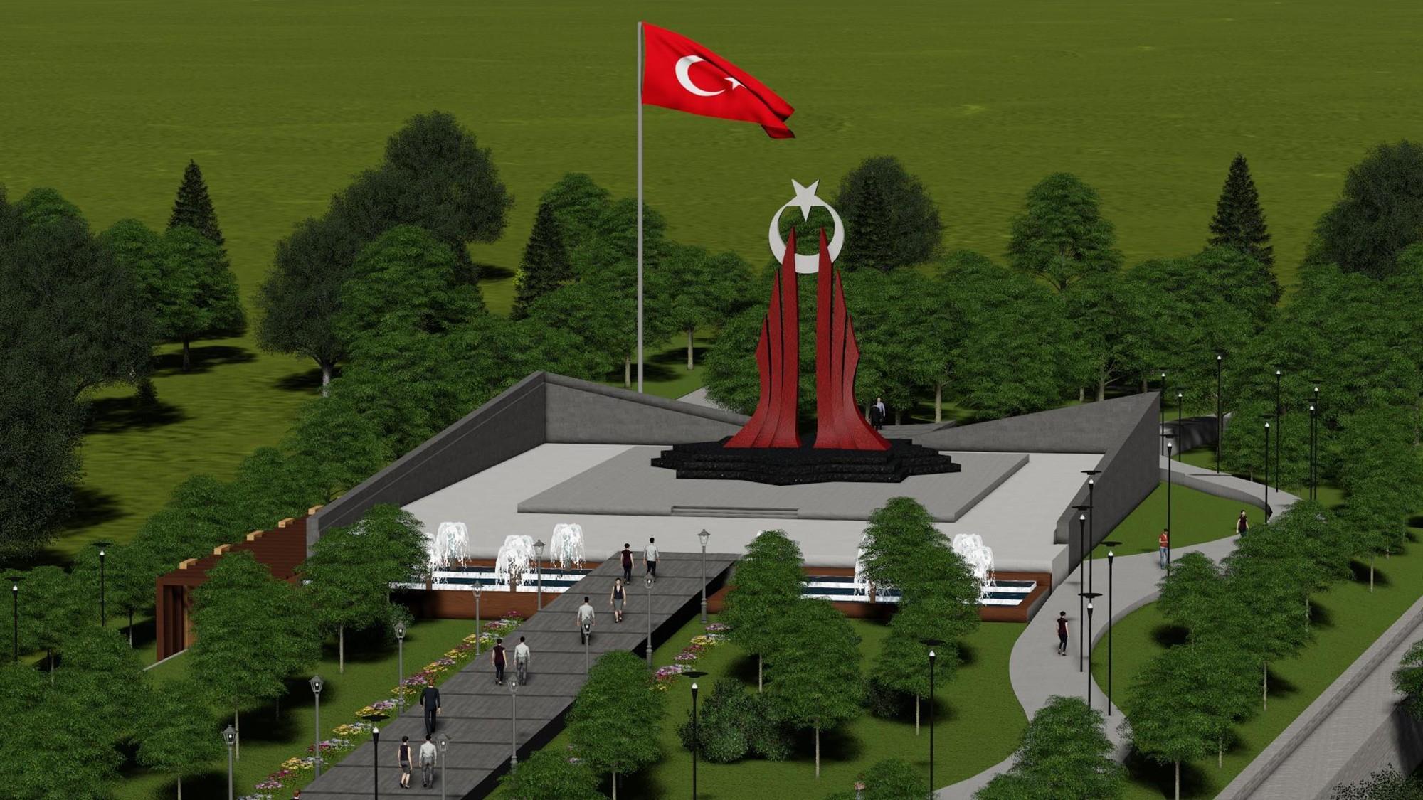 Mihraplı'ya şehitlik anıtı