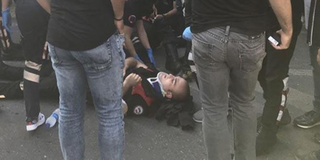 Beşiktaş'ta kaza: 2 polis yaralandı