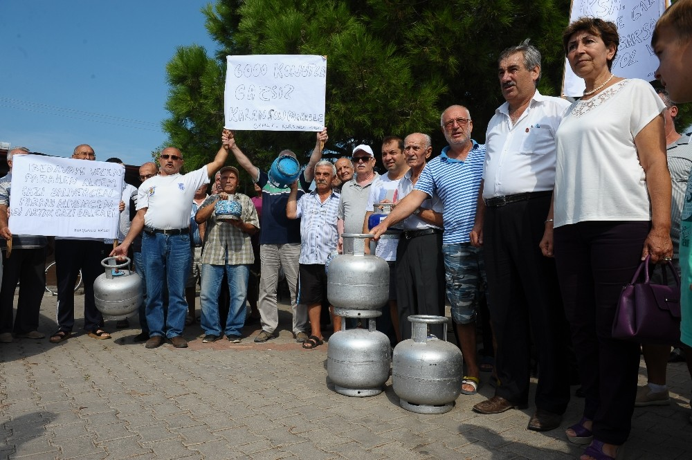 Bursa'da tüplü doğalgaz protestosu