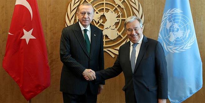 Erdoğan'dan ABD'de ikili görüşmeler