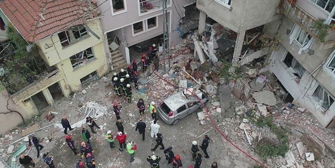 Bursa'da patlama sonrası yangın!
