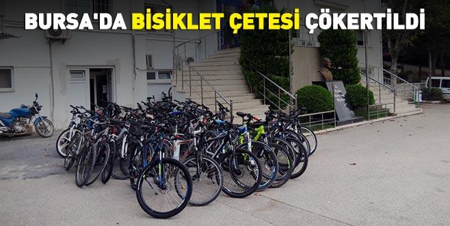Bursa'da bisiklet çetesi çökertildi