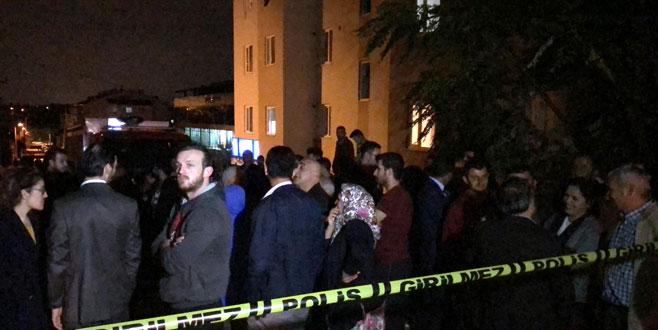 Bursa'da 5 katlı binada çatlak paniği