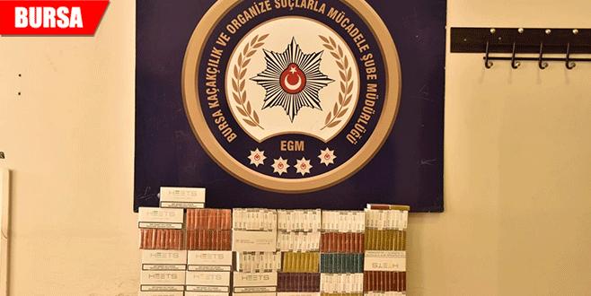 AVM'de gümrük kaçağı sigara ve puro operasyonu