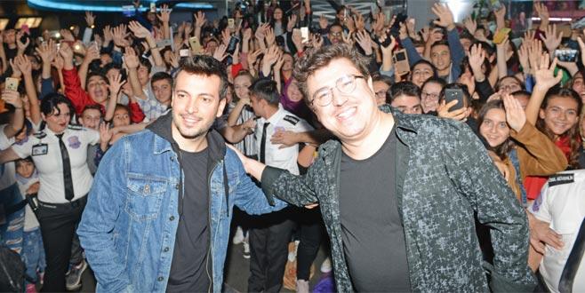 Yeni filmlerinin galası için Bursa'ya geldiler