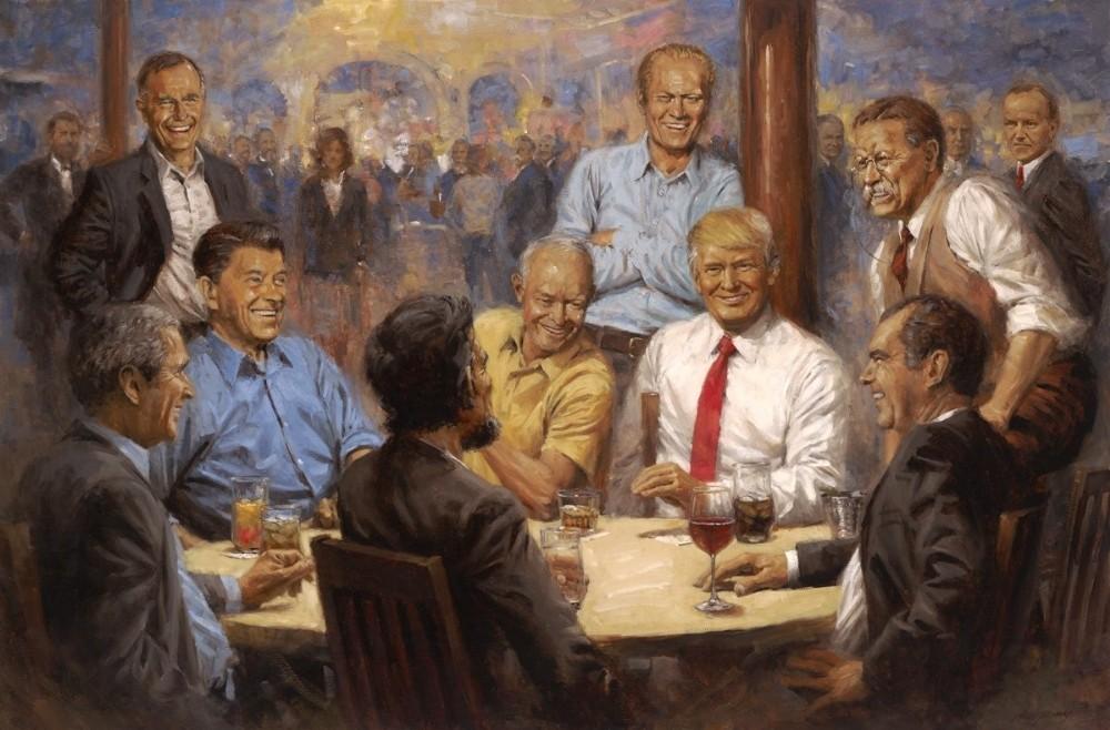 ABD, Beyaz Saray'daki tabloyu konuşuyor