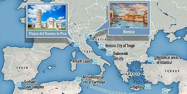 Risk haritası yayınlandı! Türkiye'den 2 yer var...