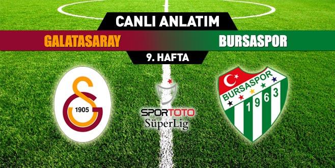 Galatasaray 0 - 0 Bursaspor (İLK YARI SONUCU)