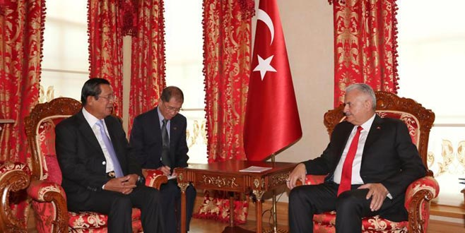 TBMM Başkanı Yıldırım, Kamboçya Başbakanı ile görüştü