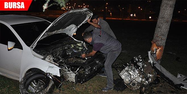 Kontrolden çıkan araç kaza yaptı: Yaralılar var...