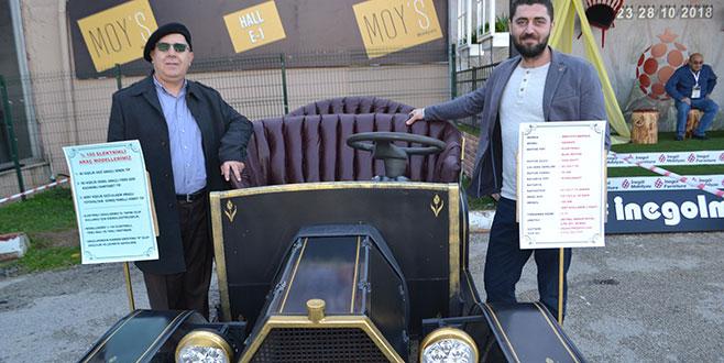 Bursa'da elektrikli arabalarda klasik devri