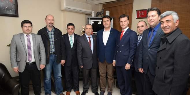 Dündar MHP Osmangazi'yi ziyaret etti