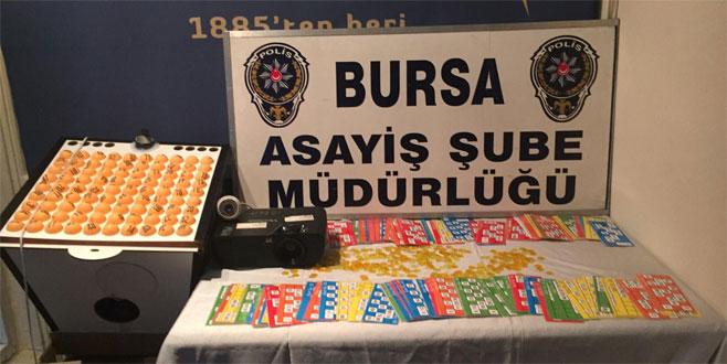 Bursa Polisi'nden kumar operasyonu