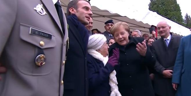 101 yaşındaki kadın Merkel'i Macron'un eşi zannetti