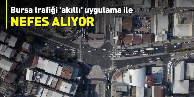 Bursa trafiği 'akıllı' uygulama ile nefes alıyor