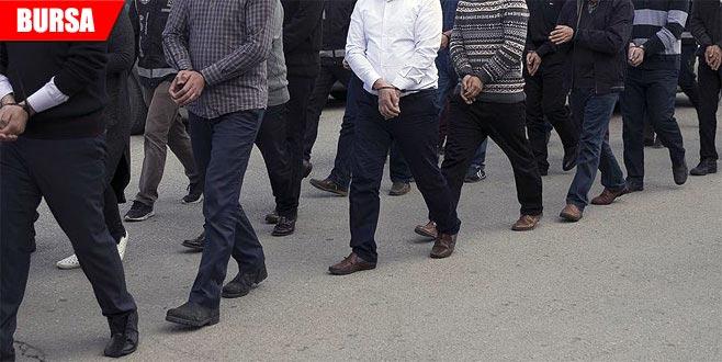 Bursa merkezli FETÖ operasyonu: Çok sayıda gözaltı
