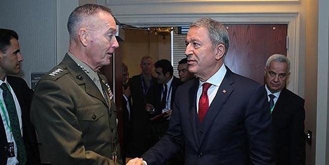 Akar'dan ABD Genelkurmay Başkanı'na YPG uyarısı