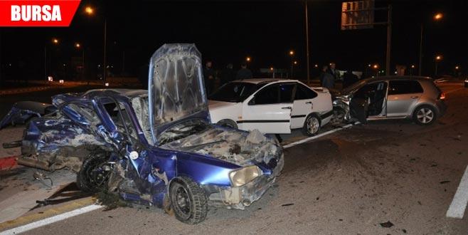 Kaza üstüne kaza: 1 yaralı