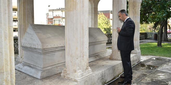 Aktaş'tan Süleyman Çelebi'nin kabrine ziyaret