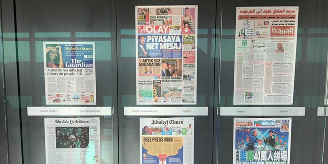 Olay Gazetesi Newseum'da