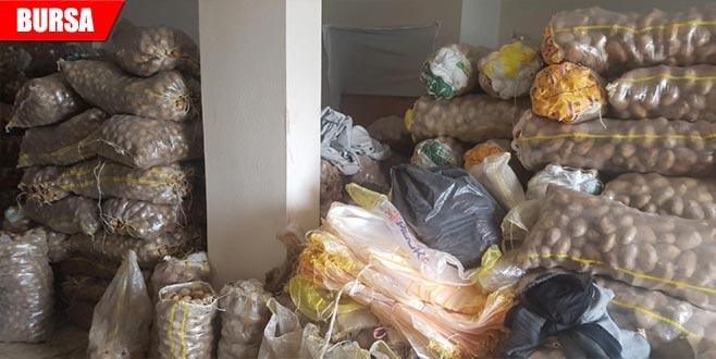 Stokçulara şok baskın! 35 ton patates ele geçirildi
