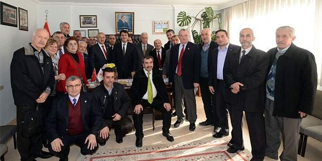 Osmangazili muhtarlar başkan Dündar'ı ağırladı