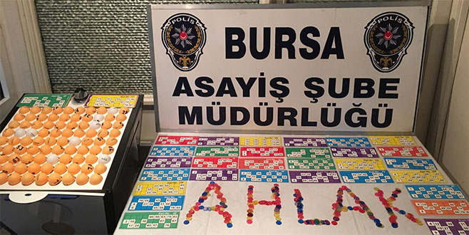 Bursa Polisi'nden tombala operasyonu