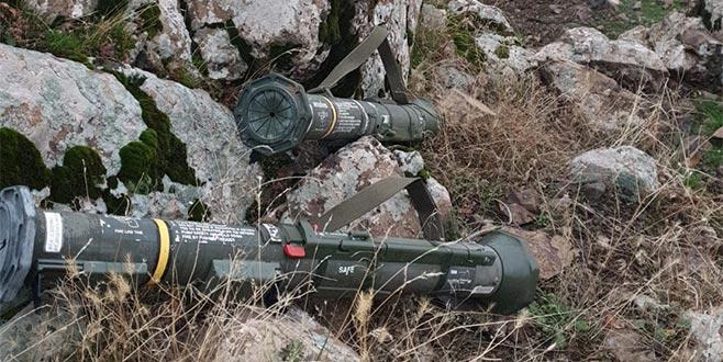 Terör operasyonlarında tanksavar roket ele geçirildi