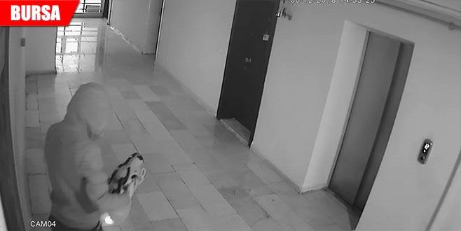 'Rahat hırsız' kameraya böyle yakalandı