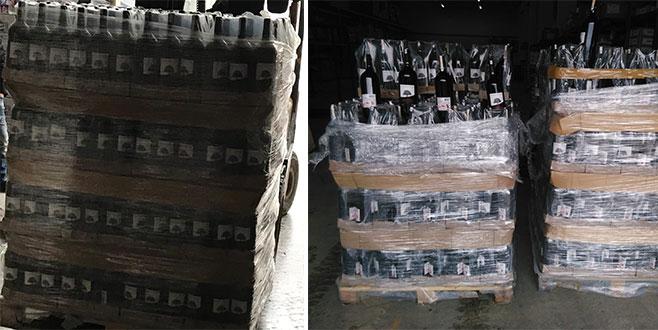 Yılbaşı öncesi şok baskın! Yüzlerce şişe ele geçirildi